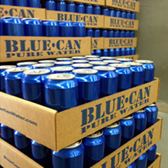 Stack of Blue Cans