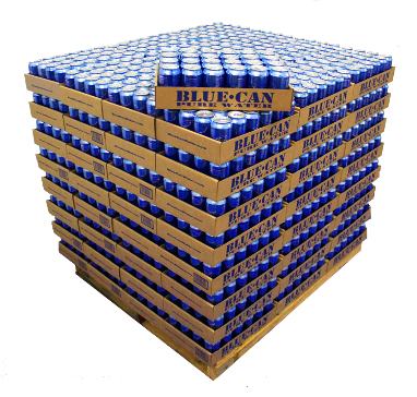 Pallet of Blue-Can Water